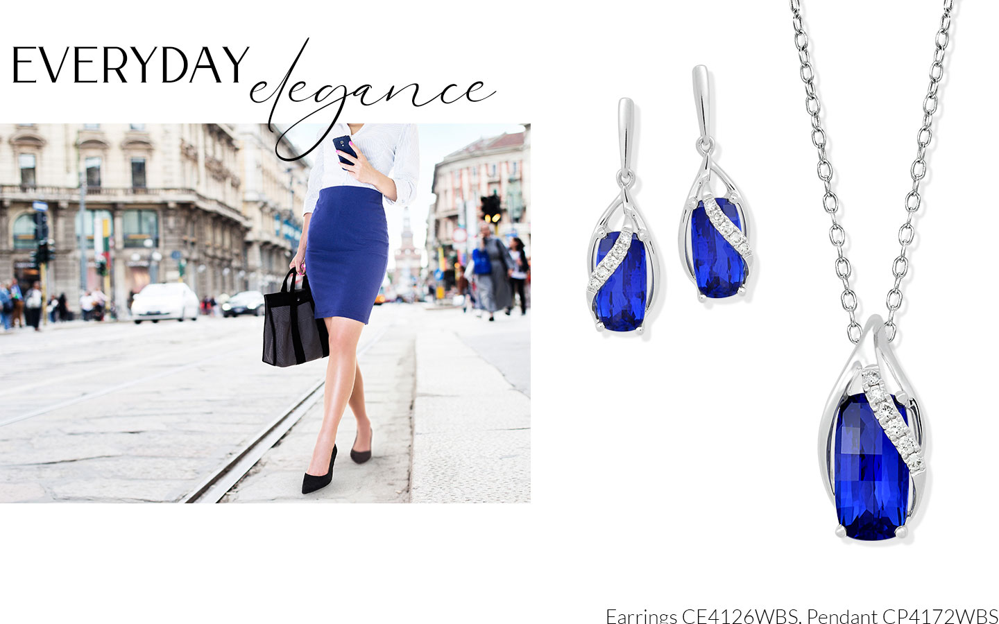 Busy Mom Every Day Elegance Featuring Earrings CE4126WBS and Pendant CP4172WBS