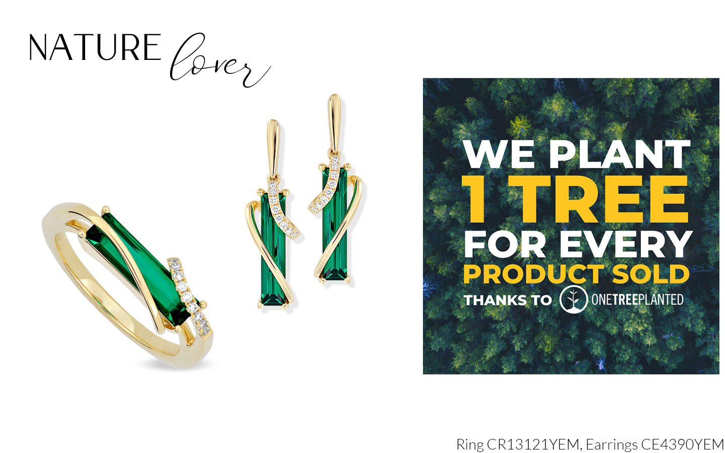 Nature Mom Nature Lover Featuring CR13121YEM and Earrings CE4390YEM. We plant 1 tree for every product sold.
