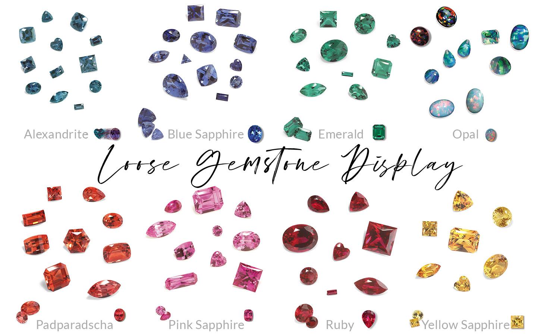 Loose Gemstone Dispay