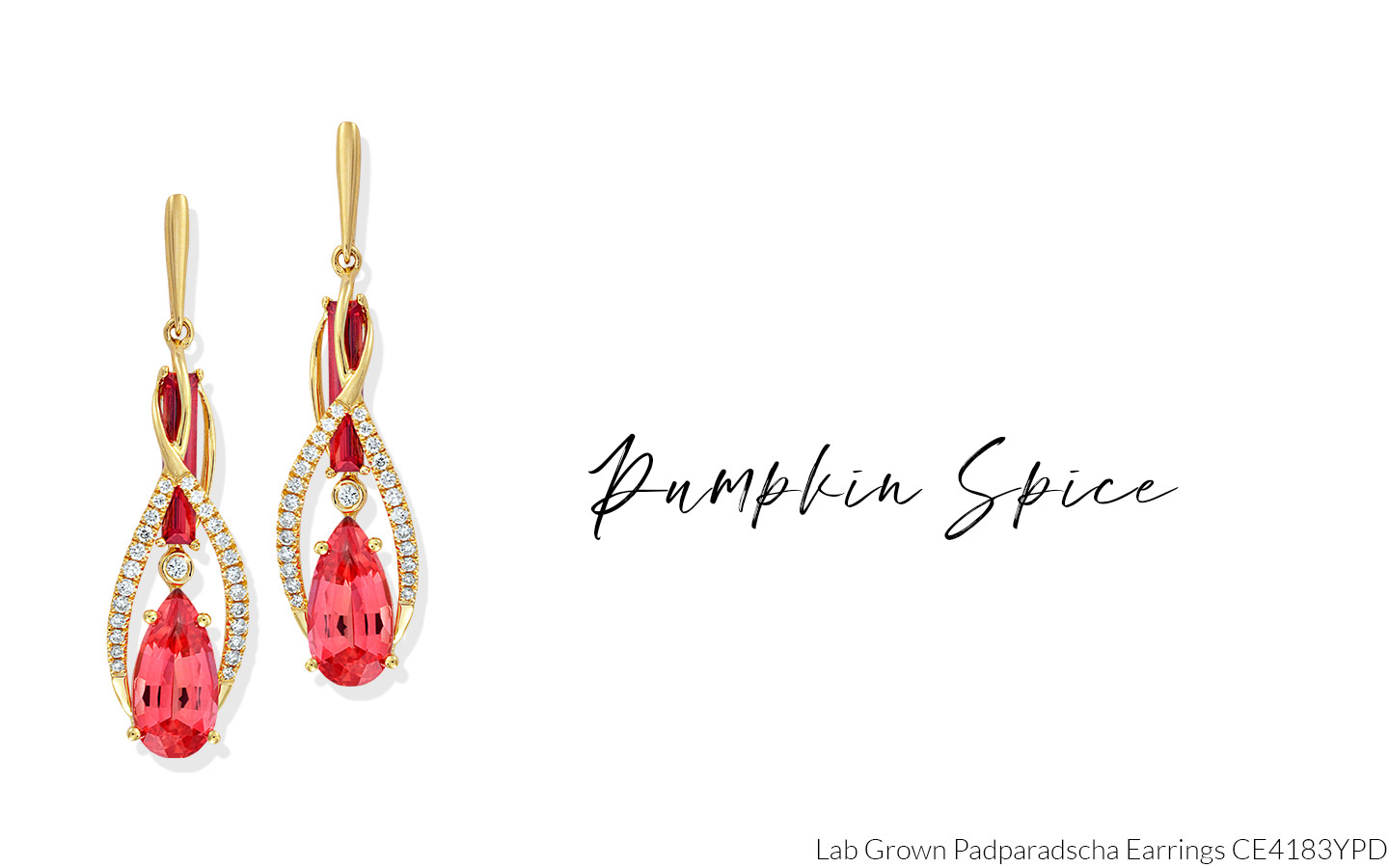 Chatham Lab Grown Padparadscha Earrings