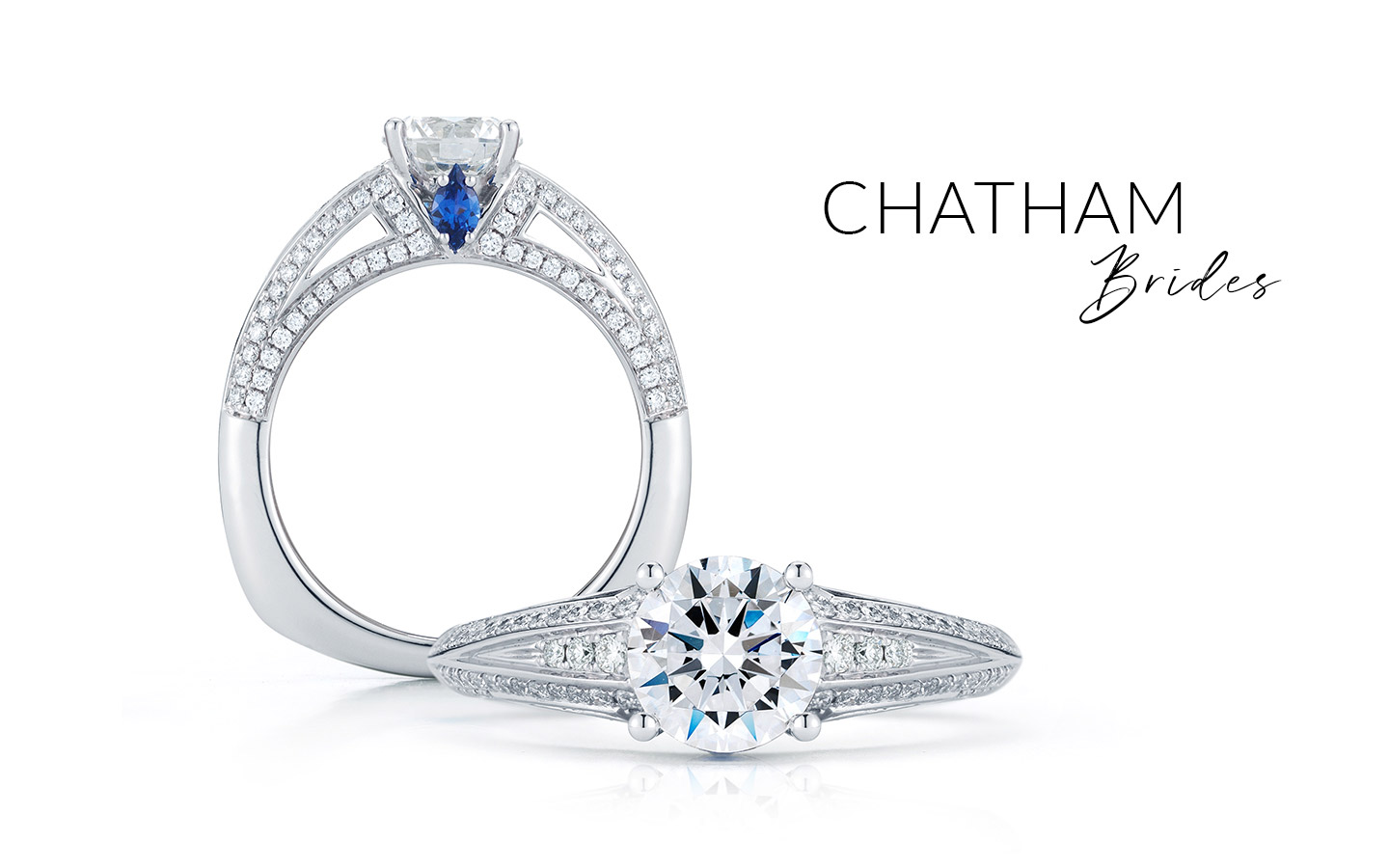 Example of Chatham Bridal Engagement Rings